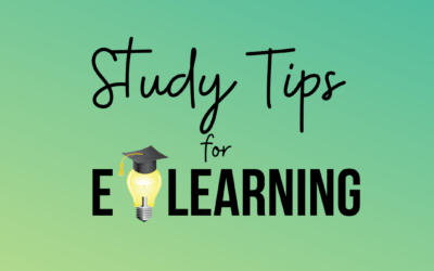 Study tips for e-learning